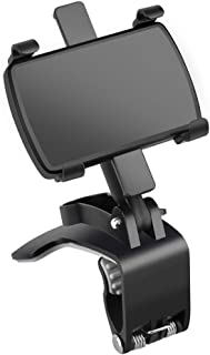 SoporteMóvilparaCoche, 3 in 1 Espejo Retrovisor Visera DashboardPhoneHolder MultipropóSito 360 Giratorio Universal Mó...
