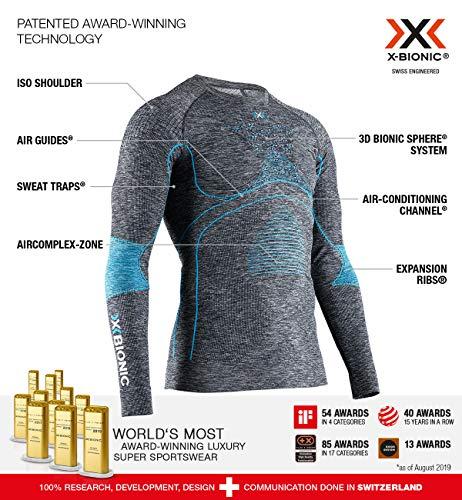 X-Bionic Camiseta Ml con Redondo e Accumulator 4.0 Melange Hombre Gris, l (EA-WT41W19M)