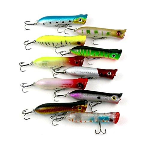 LENPABY 10 señuelos de Pesca Artificiales, 3D, Ojos de Pesca, Cebo, Cebo, Cebo, Cebo Vibe, señuelo de hundimiento para lubina, Trucha, Walleye Redfish, 11 g/8 cm, Superficie de Pesca Dura