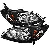 Carpartsinnovate For Honda 04-05 Civic EM ES 2/4Dr Coupe Sedan JDM Black...