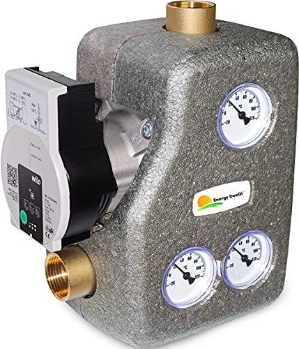 Grupo de recirculación anticondensación y distribución con control termostático de la temperatura – Calibración 55 °C (1