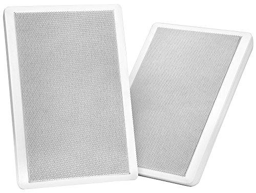 Pronomic FLS-540 WH Flatpanel Wandlautsprecher Boxen Paar (HiFi Flachlautsprecher, 2-Wege Box, 5,25