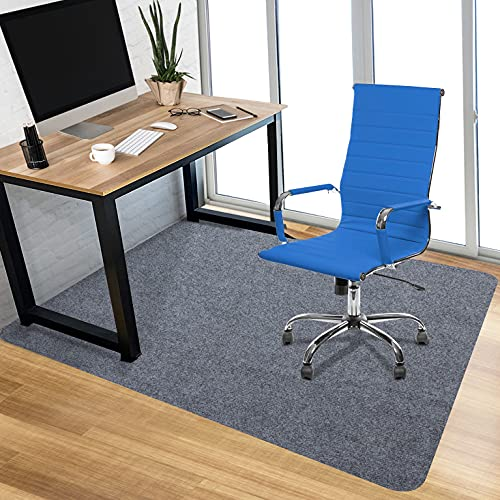 Chair Mat Office Protector for Hardwood Floors Premium Low-Piel Floor Protector Mat Desk Rug 1/6' Thick 36'X 48' Wood/Tile Protection Mat for Office Home