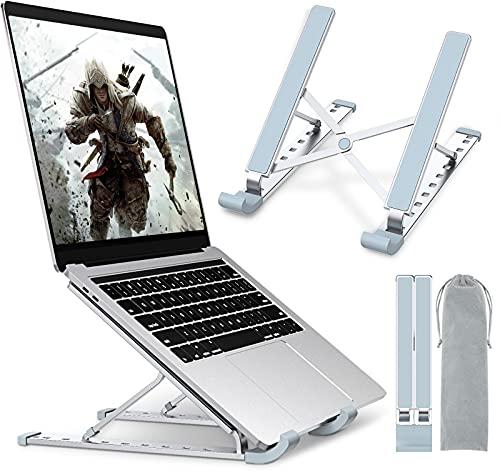 Coocda - Soporte para ordenador portátil (aluminio, 9 niveles, ajustable, elevador, portátil, con ventilación, para MacBook, Lenovo, Dell, HP, PC, 10-15,6 pulgadas)