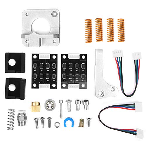 Jeanoko Complete PETG Tube Silicone Lid 3D Printer Extruder Kit Aluminum Block for CR‑11 CR10S 3D Printer