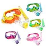 Calli Kinder Professionelle Silikon Taucherbrillen Set Gläser Maske Schwimmen Tauchen Schnorchel...