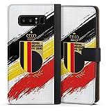 DeinDesign Klapphülle kompatibel mit Samsung Galaxy Note 8 Duos Handyhülle aus Leder schwarz Flip Hülle Flagge Rote Teufel RBFA
