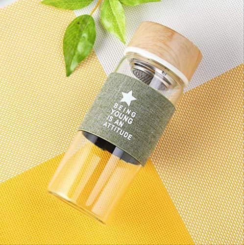 Hoge Kwaliteit 400ML Glas Water Fles met Thee Infuser Mijn Drink Eiwit Shaker Sport Bootle Reizen Koffie Hot Water Flessen
