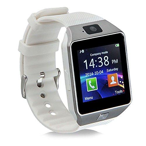 KXCD, smart watch Bluetooth DZ09, con GPS e fotocamera, per cellulari Android, colore bianco