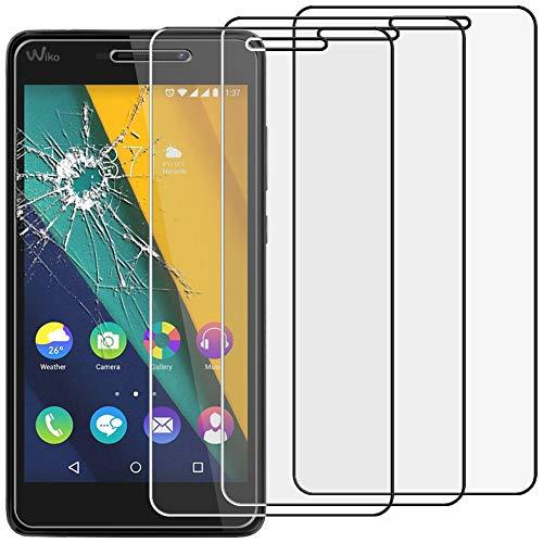 ebestStar - kompatibel mit Wiko Pulp Fab 4G Panzerglas x3 Schutzfolie Glas, Schutzglas Bildschirmschutz, Bildschirmschutzfolie 9H gehärtes Glas [Phone: 155.4 x 79.3 x 8.5mm, 5.5'']