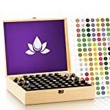 Essential Oil Wooden Box - Oils Storage Case Holds 68 Bottles & Roller Balls. Natural Pine Wood....
