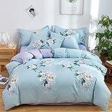 Haushalts Bettbezug Set ReißVerschluss Baumwolle Einfachen Stil Blumendruck Waschbare Bettdecke...