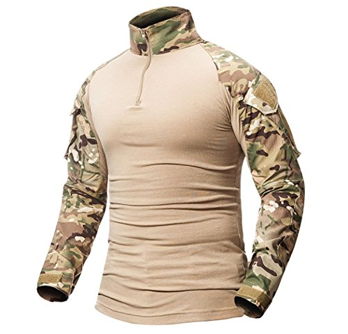 ShallGood – Camiseta táctica de manga larga para hombre,