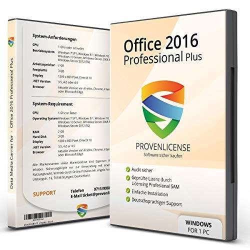 Office 2016 Professional - ProvenLicense 32/64 bit ISO DVD + Lizenzschlüssel per E-Mail - inkl. aller aktuellen Updates - Deutsch