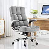 Yamasoro Ergonomischer Bürostuhl mit Rückenstütze und Armlehnen für Heimbüro, verstellbar