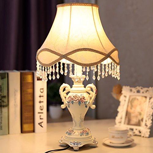 Bonne chose lampe de table Lampe de table européenne Lampe de chevet de chambre pastorale Salle de mariage de luxe Jane European Retro Lamp