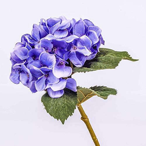 artplants.de Mini Ortensia Decorativa, Lilla, 25cm, Ø 10cm - Ortensia Artificiale/Fiore Finto