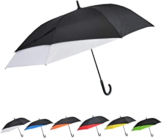 SoulRain Windproof Telescopic Umbrella Auto Open Handle J Stick Umbrellas Oversized 55.5