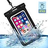 HOOMIL Funda Impermeable Móvil, Universal Impermeable Bolsa para Xiaomi Redmi Note 7/Mi 9T/Apple iPhone XS MAX/XR/8 Plus/Samsung Galaxy M20/S10 Plus/Huawei P30 Pro/P30 Lite y más