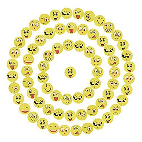 Willingood 72 x Emoji Smiley Radiergummi Set für Kinder   Mitgebsel   Kindergeburstagen   Gastgeschenke als Geburtstagsgeschenk und Bunte lustige Radiergummi,Smiley Spielzeug und Verschiedene Motive