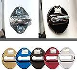 4枚セット 5色選択可 トヨタ TOYOTA ストライカー カバー ドアロック カバー メッキ 高品質 鏡面ステンレススト トヨタ全車種対応 トヨタ社外品 (レッド)