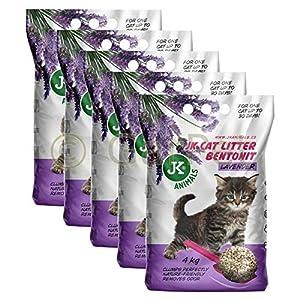 5x4 Kg CAT Lavender Katzenstreu Sparpaket klumpend Katzen Einstreu Klumpstreu 7