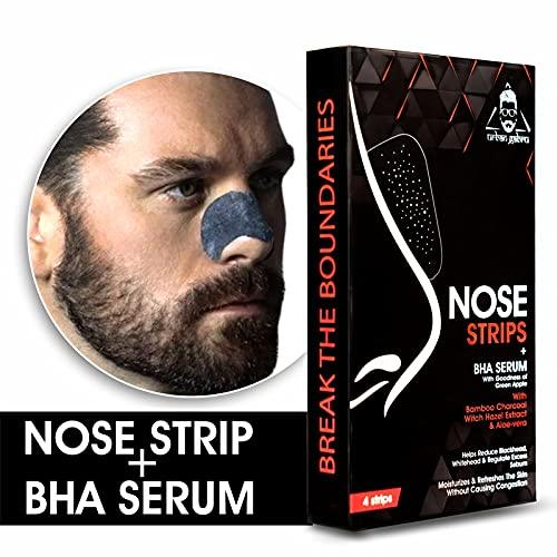urbangabru Nose Strips (4 Strips) Black/Whitehead Remover + BHA Serum to Treat Pores