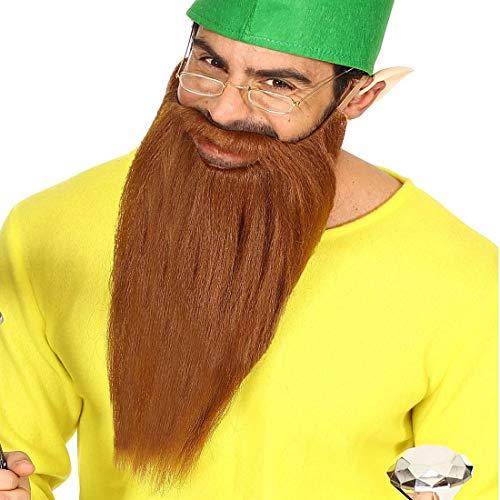NET TOYS Langer ZZ Top Bart mit Schnurrbart - Braun - Außergewöhnliches Party-Accessoire Rocker - Bestens geeignet für Fasching & Karneval