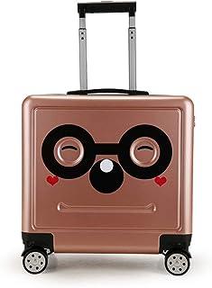 YCYHMYF Children Trolley Suitcase Cartoon Boarding Pupils Password Box Universal Wheel 16 Inch (Gold)