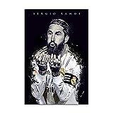 Sergio Ramos Leinwand-Kunst-Poster und Wandkunst,