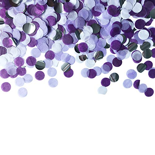 Table Confetti 30g Dots Confetti 1 INCH Tissue Paper Round Party Confetti for Bachelor Graduation Party or Filling Balloons (Purple Set)