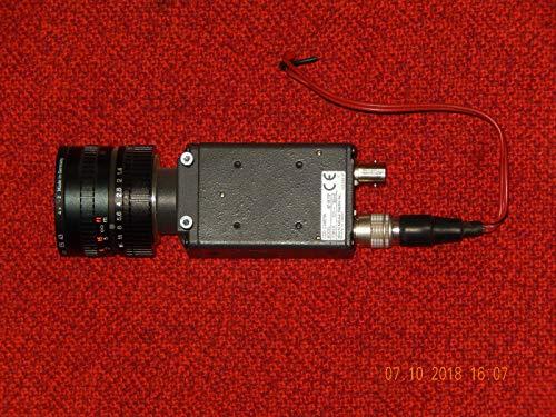 HITACHI Kamera CCD KP-M2RP, Objektiv heliopan ES 43 HF16A-2M1,