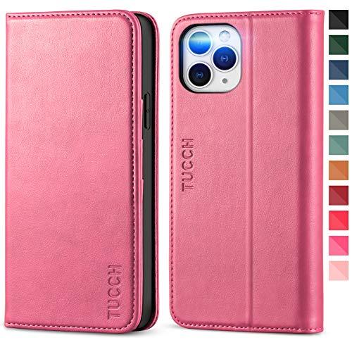 TUCCH Funda iPhone 12 Pro MAX, Funda de Cuero PU iPhone 12 Pro MAX con Cáscara de TPU, Ranura para Tarjeta, Soporte Plegable, Funda Piel Protectora para iPhone 12 Pro MAX 5G(6.7 Pulgadas 2020)