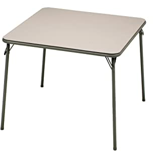 MECO Square Folding Table, 34 by 34-Inch, Chicory Lace