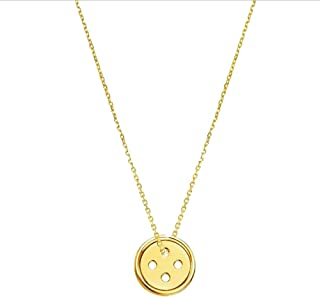 Grenf Fashion Retro Korean Drama Pinocchio Kpop Necklace Lucky Button Shape Pendant