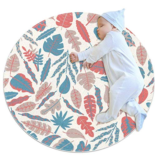 Abstract Leaves Baby Play Mats - Baby Crawling Mats for Boys and Girls - Children's Room Decor for Play Carpet Floor Carpets