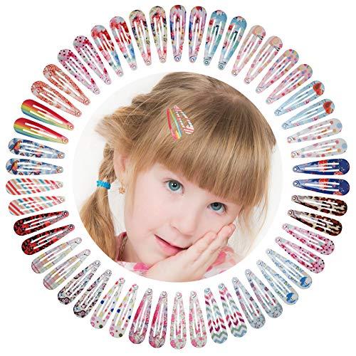 50 Stück Haarspangen, Kalolary Mädchen Cartoon-Clips Karikatur Entwurfs Metalldruck Haarklammern für Mädchen Kinder