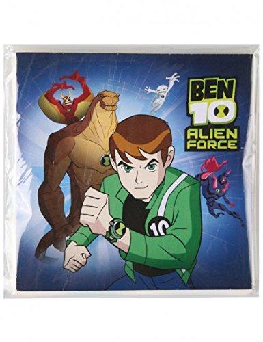 20 Serviettes Ben 10 Alien Force - Anniversaire Enfant - Goûter enfant