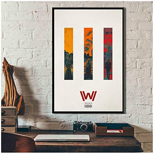 chtshjdtb Westworld Stagione 3 Spettacoli TV Poster d'Arte Pittura su Tela Wall Art Home Wall Decor Opere d'Arte -50X70Cm Senza Cornice 1 Pz