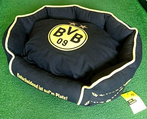 Bellomania Borussia Dortmund BVB 09 Fanartikel Hundebett Entscheidend ist auf'm Platz ca. 58 cm x 48 cm x 23 cm