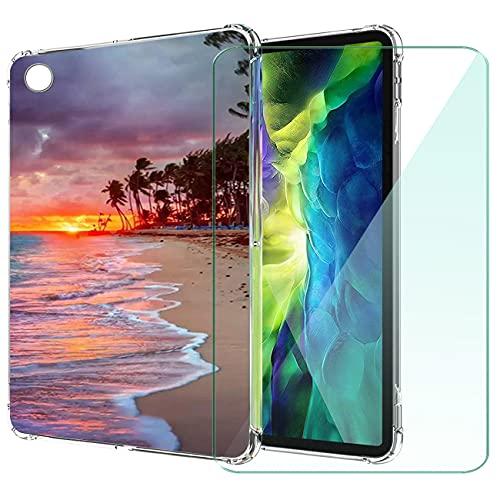 WANCJX Transparente Tablet Funda Compatible para Lenovo Tab M10 HD 2nd Gen (10.10 Pulgada) Carcasa + [1 Pieza] Cristal Templado Film,Antigolpes Caso Cover,HD Cristal Templado Membrana-JX7