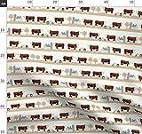 Kuh, Kühe, Das Vieh, Bauernhof, Tier, Tiere Stoffe -