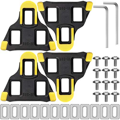Hotop 2 Paquetes de Tacos de Bicicleta de Carretera Taco de Pedales de Ciclismo con Autobloqueo de Flotador de 6 Grados Compatible con Zapatillas de Sistema Shimano SH-11 SPD-SL