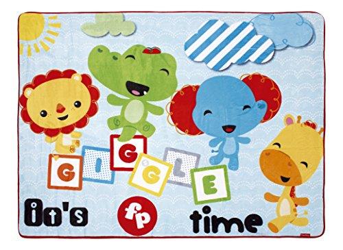 Arditex FP10081U Tapis pour Enfant en Fleece Antidérapant sous Licence Fisher-Price 117x157cm, Polyester, Multicolore, 117 x 157 cm