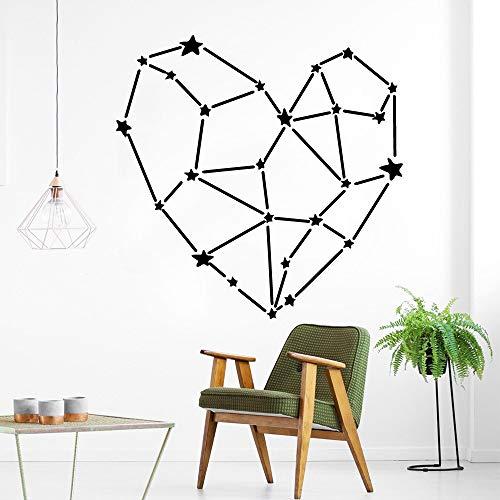 Calcomanías de pared de corazón creativo para sala de estar y dormitorio calcomanías de pared removibles a prueba de agua pegatinas de calcomanías A5 57x57cm