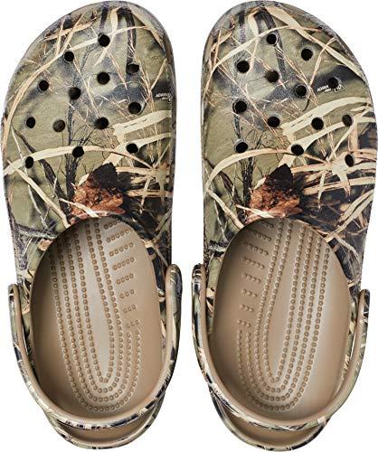 Crocs Unisex Men's and Women's Classic Realtree Clog | Camo Shoes, Khaki, 11 US