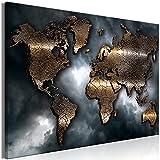 murando Quadro Mappamondo 120x80 cm Stampa su tela in TNT XXL Immagini moderni Murale Fotografia Grafica Decorazione da parete 1 pezzo Astratto Continente World Map Cielo k-A-0501-b-a