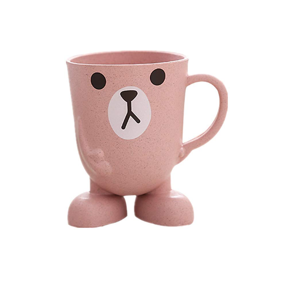 Creative Maixiang cute children's tooth cup mini cartoon wash cup, suitable for children's stereo base household brushing cup, Pink