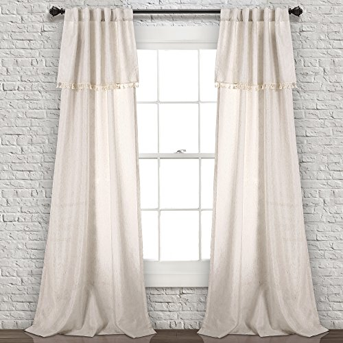 """Lush Decor Lush Décor, Neutral Ivy Tassel Curtains 