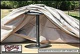 Raffles Covers RFS7070 Hocker Abdeckung 70 x 70 H: 45 cm Schutzhülle für Lounge Tisch